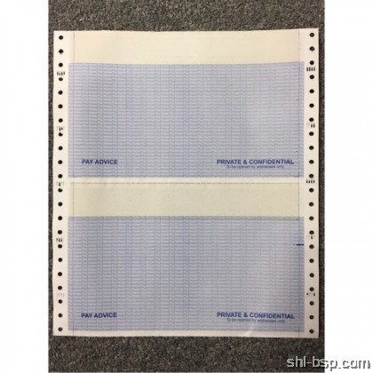 Computer Form NCR 9.5 X 11'' 3PLY 2UP Payslip (500 FANS /BOX)