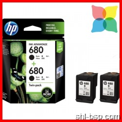 HP 680 Ink Black, Tri-Color, Twin-Pack,Combo-Pack Original Ink Advantage Cartridge