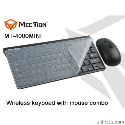 Meetion 2.4G Wireless Keyboard and Mouse Combo MINI 4000